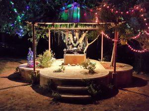 Devraha Baba Manch at night